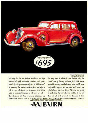 1934 Auburn - Promotional Advertising Poster
