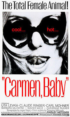 Carmen, Baby - 1967 - Movie Poster