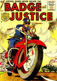Badge of Justice #2 1955 - Comic Book Cover Poster