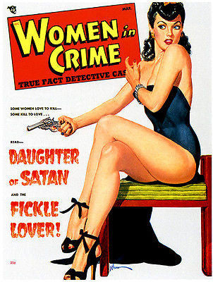 Women in Crime - 1949 - Magazine Cover Poster