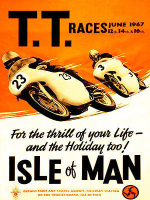 1967 Isle of Man TT Race - Promotional Advertising Poster