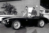 1964 Caroll Shelby & Steve McQueen & New Shelby Cobra - Photo Poster