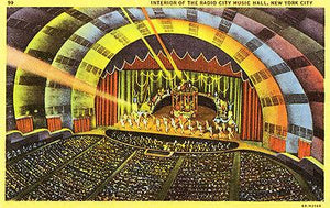 Radio City Music Hall - New York NY - 1940's - Vintage Postcard Mug