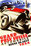 1934 Swiss Grand Prix Race - Promotional Advertising Poster
