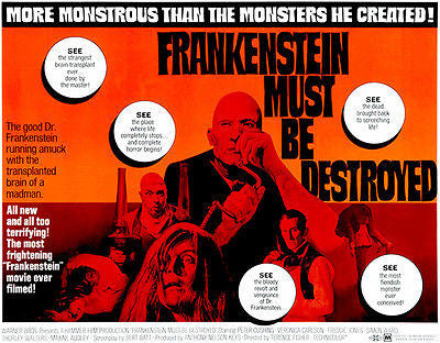 Frankenstein Must Be Destroyed - 1969 - Movie Poster