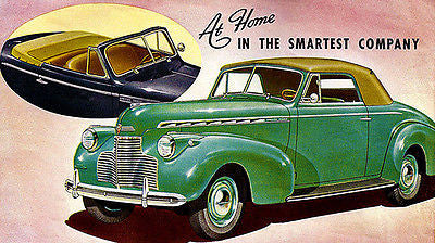 1940 Chevrolet Convertible Cabriolet - Promotional Advertising Poster