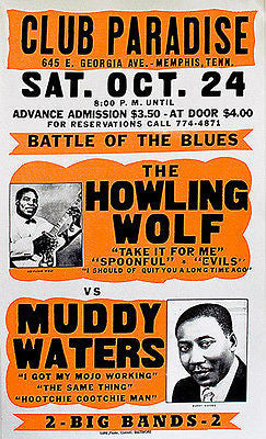The Howling Wolf vs Muddy Waters - Club Paradise - 1964 - Concert Poster
