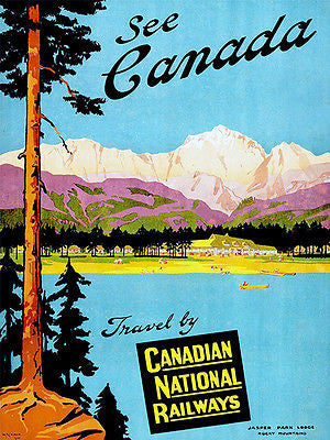 1930's - See Canada - Canadian National Railways - Travel Advertising Poster