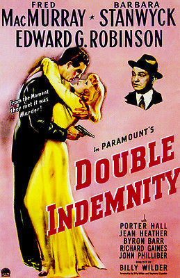 Double Indemnity - 1944 - Movie Poster
