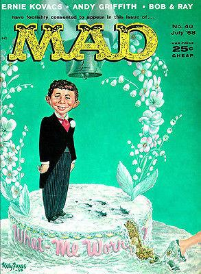 MAD Magazine #40 - July 1958 - Cover Magnet