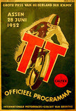 1952 Dutch T. T. Motorcycle Race - Promotional Advertising Poster