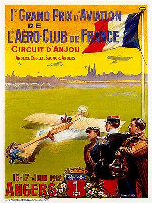 1912 Grand Prix D' Aviation Air Race - Promotional Advertising Magnet