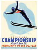 1938 U.S. Ski Jumping Championships - Promotional Advertising Poster
