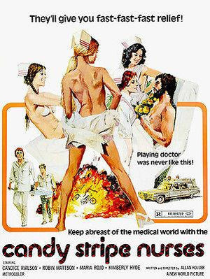 Candy Stripe Nurses - 1974 - Movie Poster Magnet