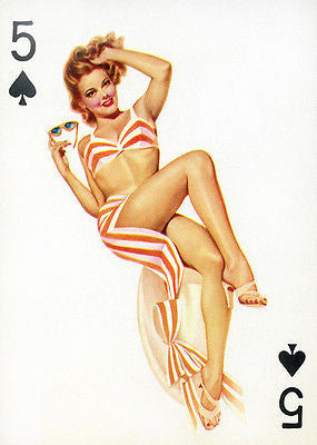5 of Spades 1950's Pin up Poster