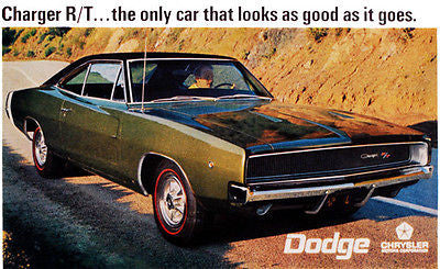 1968 Dodge Charger R/T - Promotional Advertising Poster
