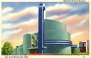 New York World's Fair Electrical Arts Building - 1939 - Vintage Postcard Poster