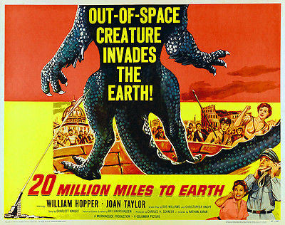 20 Million Miles To Earth - 1957 - Movie Poster