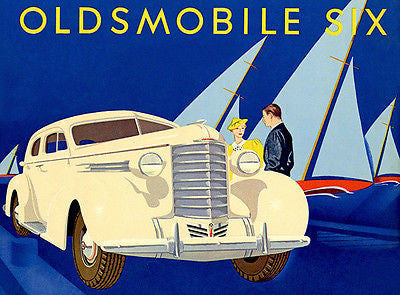 1937 Oldsmobile Six - Promotional Advertising Poster