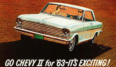 1963 Chevrolet Chevy II  - It's Exciting - Promotional Advertising Poster