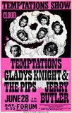 The Temptations - Gladys Knight & The Pips - 1969 - Forum - Concert Poster