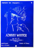 Johnny Winter - 1977 - Sam Houston Coliseum - Concert Poster