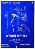 Johnny Winter - 1977 - Sam Houston Coliseum - Concert Poster Mug
