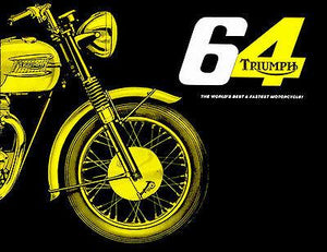 1964 Triumph Bonneville - Promotional Advertising Magnet