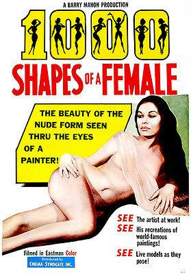 1000 Shapes of a Female - 1963 - Movie Poster Magnet