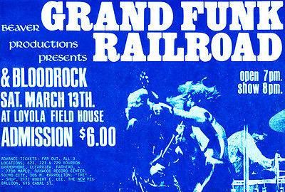 Grand Funk Railroad - Loyola Fieldhouse - 1971 Concert Poster Mug