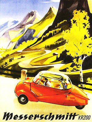 1955 Messerschmitt KR 200 - Promotional Advertising Poster