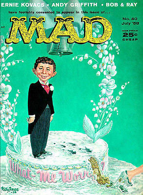 MAD Magazine #40 - July 1958 - Cover Poster