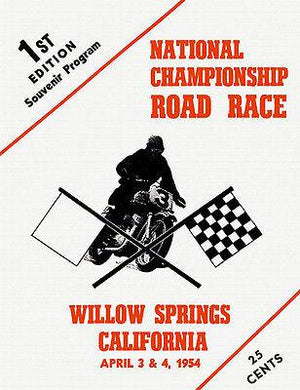 1954 Willow Springs National Championship Motorcycle Road Race - Mug