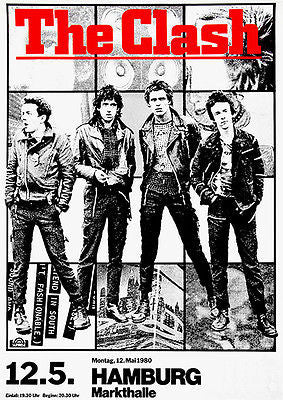 The Clash - 1980 - Hamburg - Concert Poster