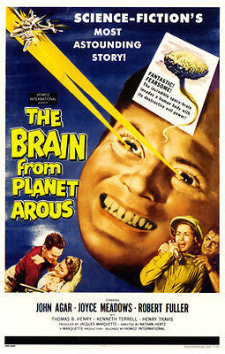 The Brain From Planet Arous - 1957 - Movie Poster
