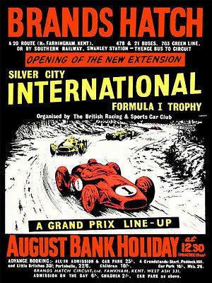1953 Brands Hatch Grand Prix Race - Promotional Advertising Poster