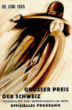 1935 Grand Prix of Switzerland Motorcycle Race - Promotional Advertising Poster