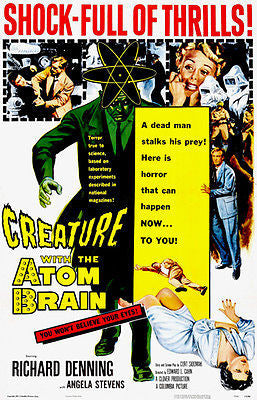 Creature With The Atom Brain - 1955 - Movie Poster