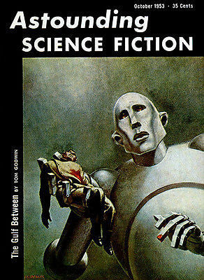 Astounding Science Fiction - October 1953 - Magazine Cover Poster
