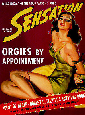 Sensation - Orgies By Appointment - 1940 - Magazine Cover Poster
