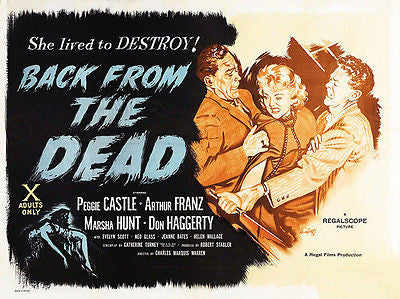 Back From the Dead - 1957 - Movie Poster