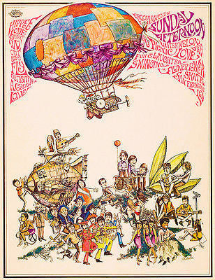 Hippee Love - Haight-Ashbury - Flower Power - 1967 - Pop Art Poster