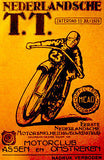 1925 Dutch T. T. Motorcycle Race - Promotional Advertising Poster