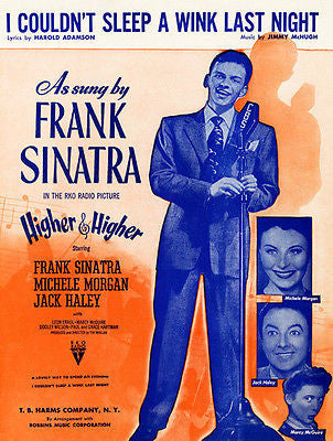 Frank Sinatra - I Couldn't Sleep A Wink Last Night - 1945 - Sheet Music Poster