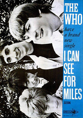 The Who - I Can See For Miles - 1967 - Single Release Promo Poster