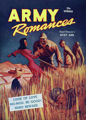 Army Romances - Comic Book Cover Poster