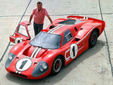 1967 Ford GT40 Mark IV & Carroll Shelby - Promotional Photo Poster