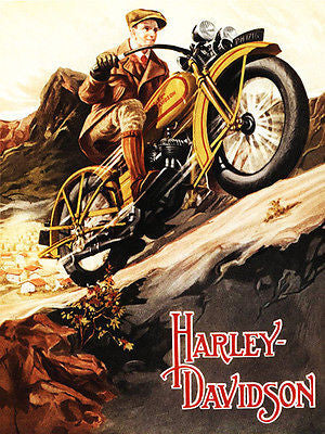 1929 Harley - Davidson - Promotional Advertising Poster