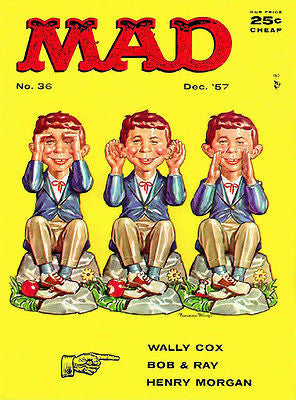 MAD Magazine #36 - December 1957 - Cover Poster