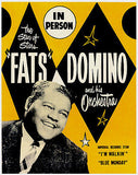 Fats Domino - The Star of Stars - 1950's - Concert Poster